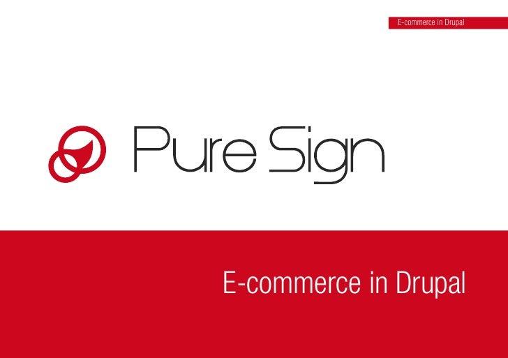 E-commerce in Drupal     E-commerce in Drupal