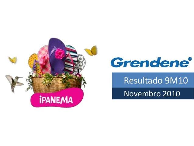 Resultado 9M10 Novembro 2010