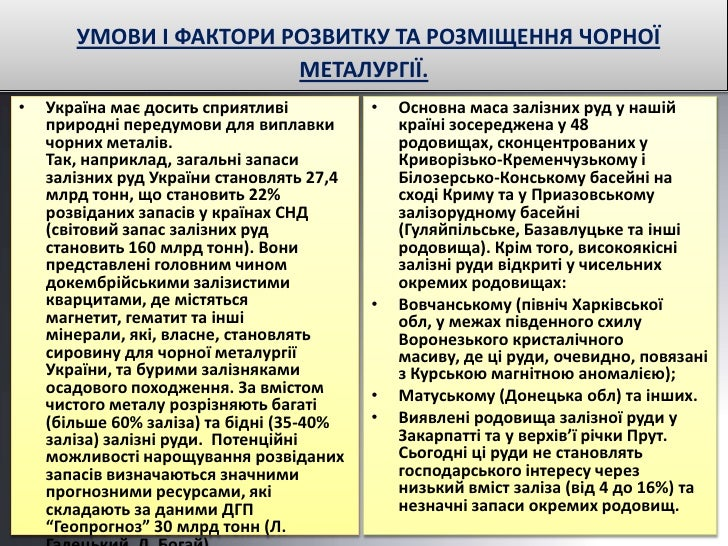 чорна металургія україни. ковалик а. 10 а. Slide 3