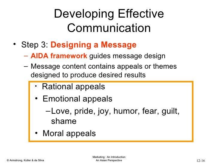 Developing Effective Communication <ul><li>Step 3:  Designing a Message </li></ul><ul><ul><li>AIDA framework  guides messa...