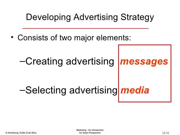 Developing Advertising Strategy <ul><li>Consists of two major elements: </li></ul><ul><ul><li>Creating advertising  messag...