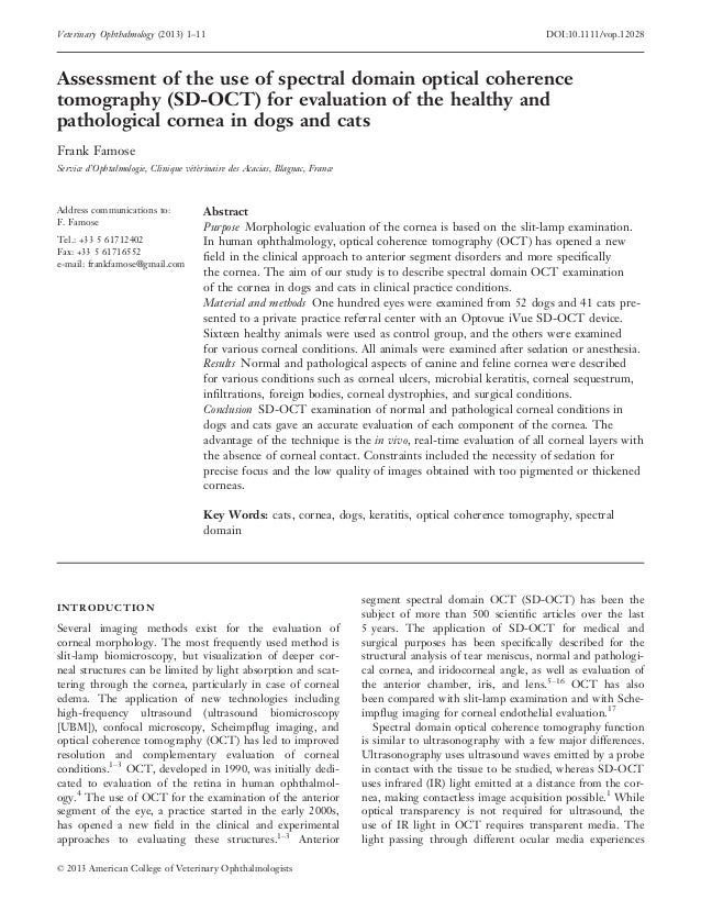 Veterinary Ophthalmology (2013) 1–11                                                                                DOI:10...