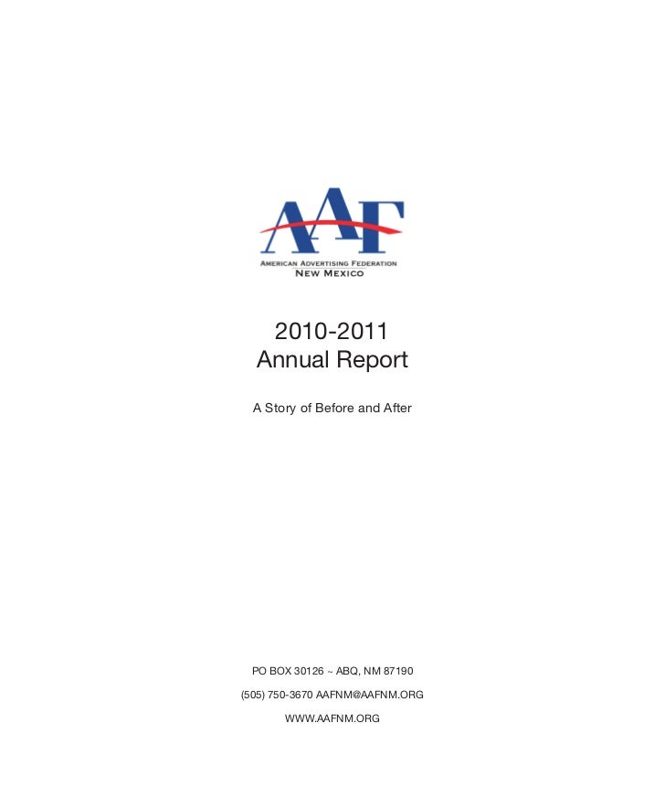 2010-2011  Annual Report A Story of Before and After PO BOX 30126 ~ ABQ, NM 87190(505) 750-3670 AAFNM@AAFNM.ORG       WWW....