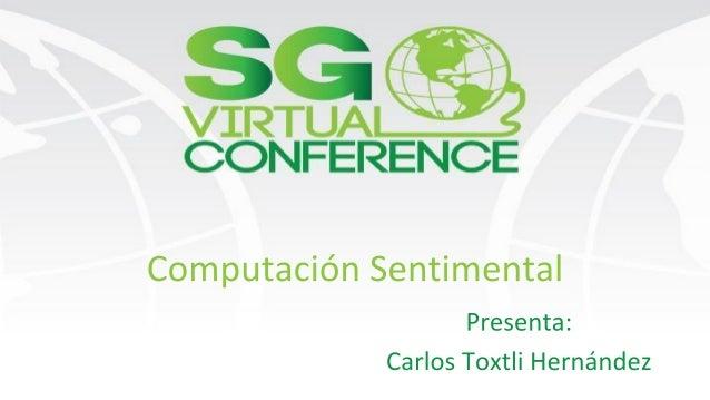 Presentación Carlos Toxtli Hernández Maestro en Innovación Empresarial Y Tecnológica