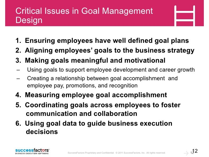 Techniques for Using Goals to Drive Business Execution: When Just Bei…