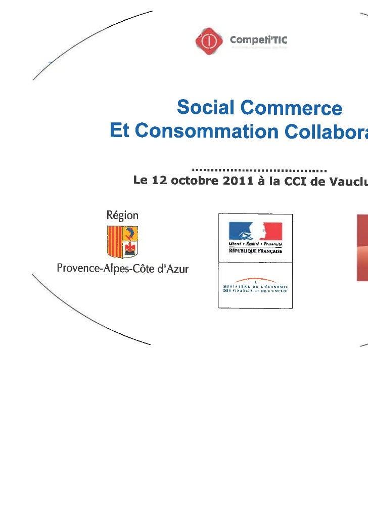 """""""Social Commerce"""" et Consommation collaborative"""