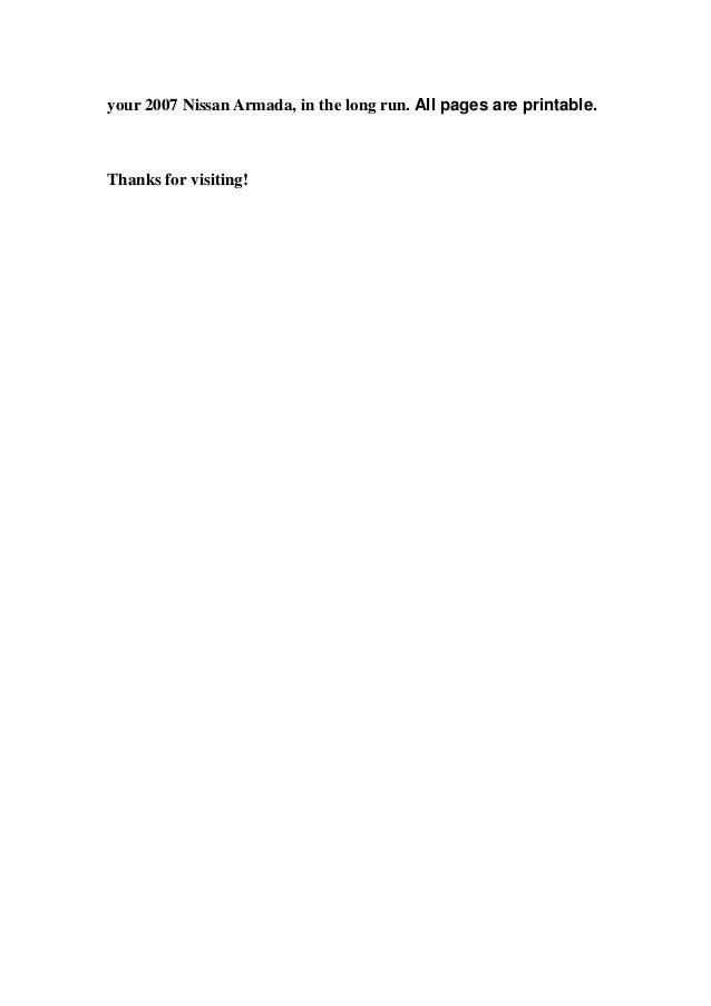 2007 nissan armada service repair manual download