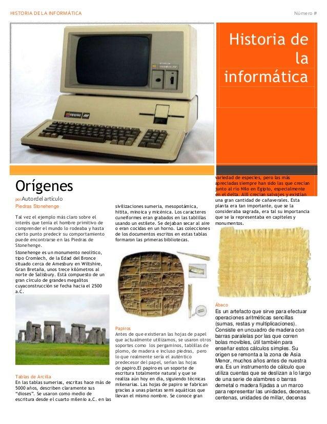 HISTORIA DE LA INFORMÁTICA                                                                                                ...
