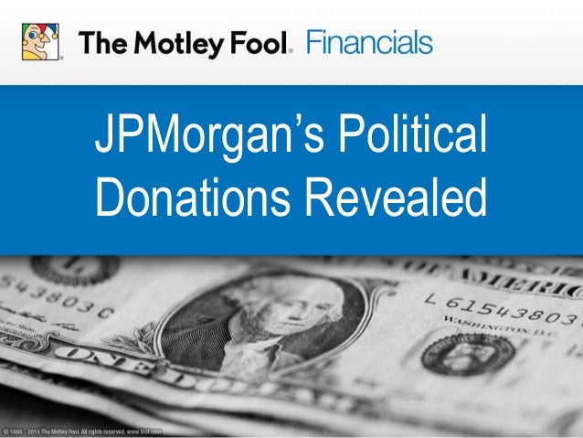JPMorgan's Political Donations Revealed