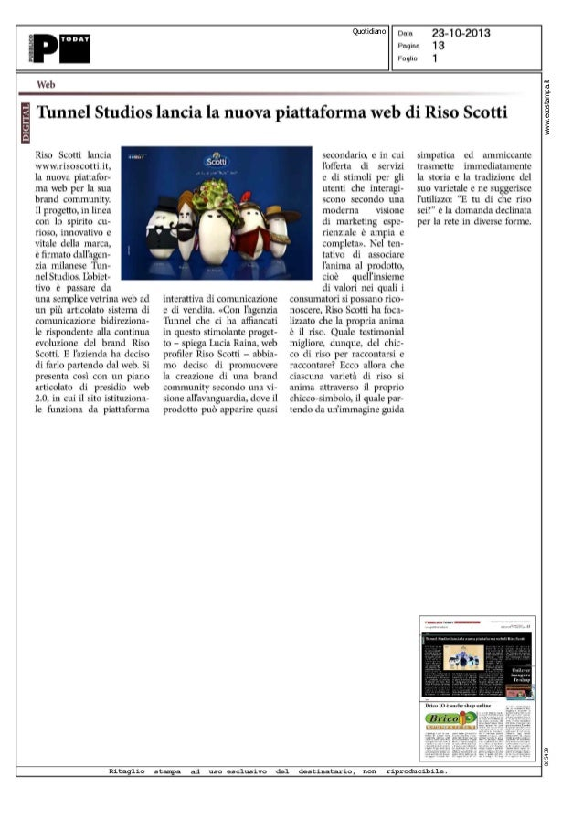 065439  www.ecostampa.it  Quotidiano