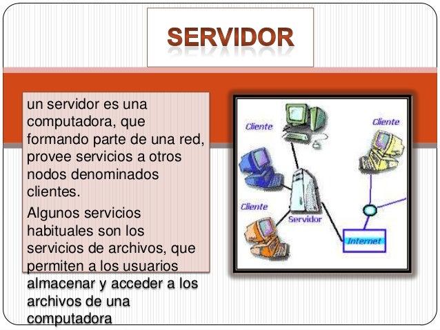 Servidor de archivo: es el que almacena archivos y los distribuye a otros clientes en la red. Servidor de impresiones: con...