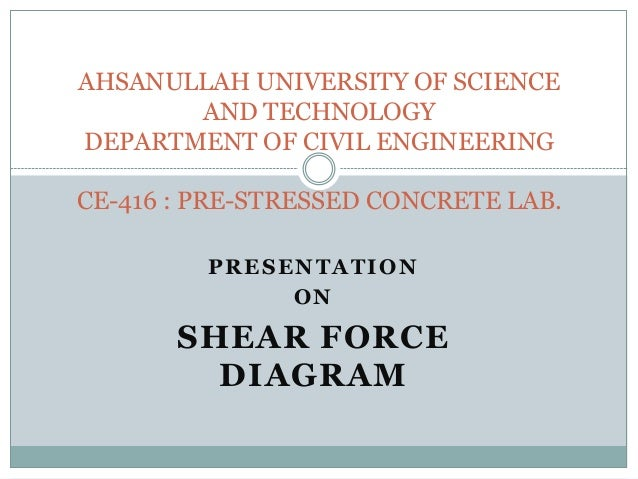 AHSANULLAH UNIVERSITY OF SCIENCE AND TECHNOLOGY DEPARTMENT OF CIVIL ENGINEERING CE-416 : PRE-STRESSED CONCRETE LAB. PRESEN...