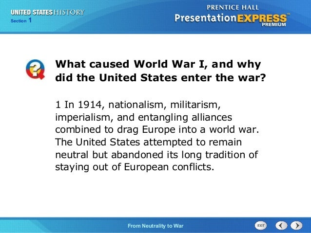 when did the united states join ww1