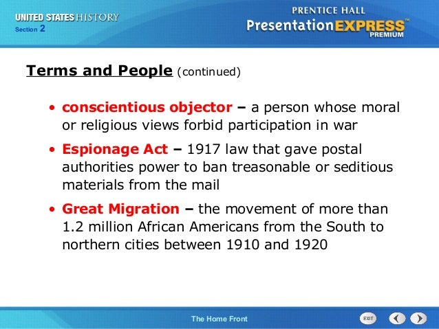 United States History Section 1 Answers