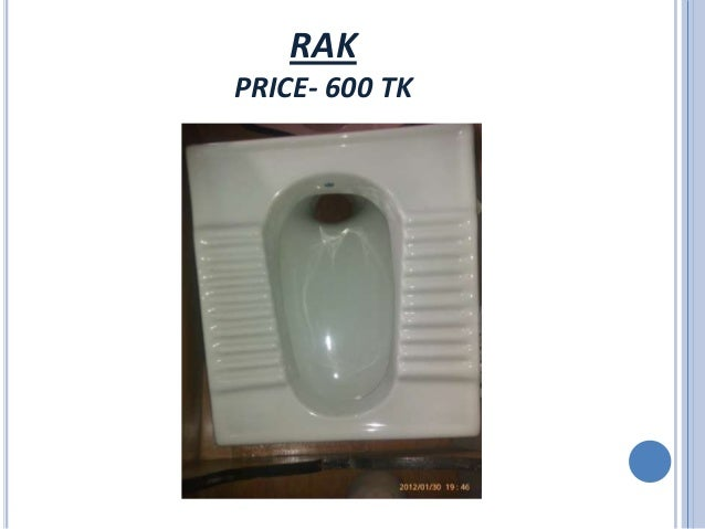RAK PRICE  600 TK. Sanitary Equipment Price In Dhaka   Rashedul Kabir   AUST 24th Batch