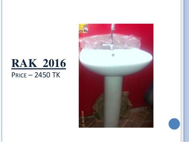 RAK 2016 PRICE   2450 TK. Sanitary Equipment Price In Dhaka   Rashedul Kabir   AUST 24th Batch