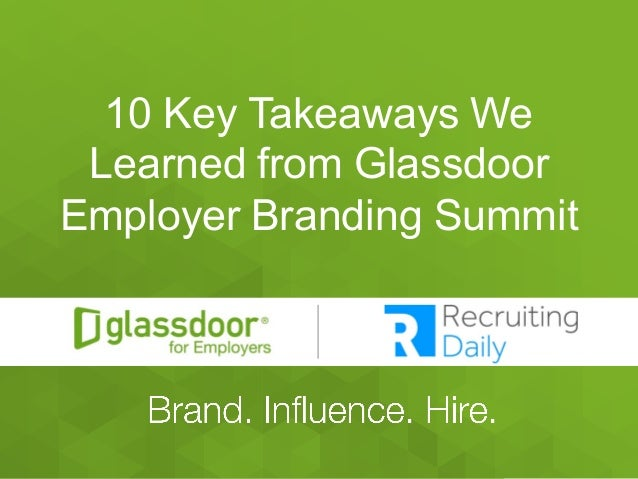 10 Key Takeaways We Learned From Glassdoor Employer