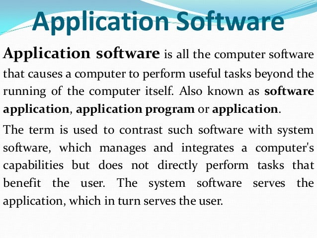 Application software and system software application software application malvernweather Image collections