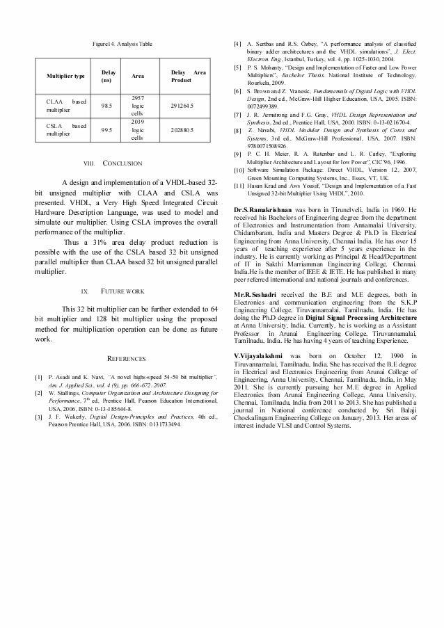 implementation and design of 32-bit adder