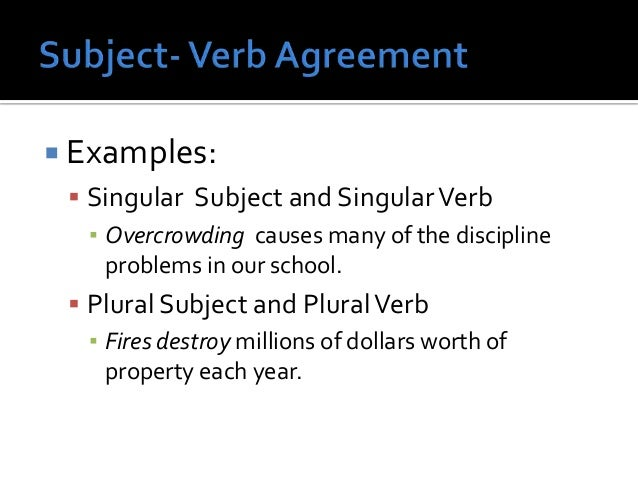 10 Subject Verb Agreement