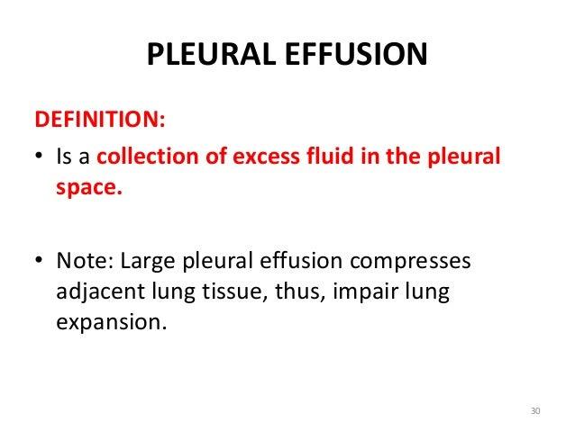 PLEURAL EFFUSION 29; 30. PLEURAL EFFUSION DEFINITION: ...