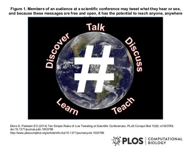 Figure 1. Members of an audience at a scientific conference may tweet what they hear or see,  and because these messages a...
