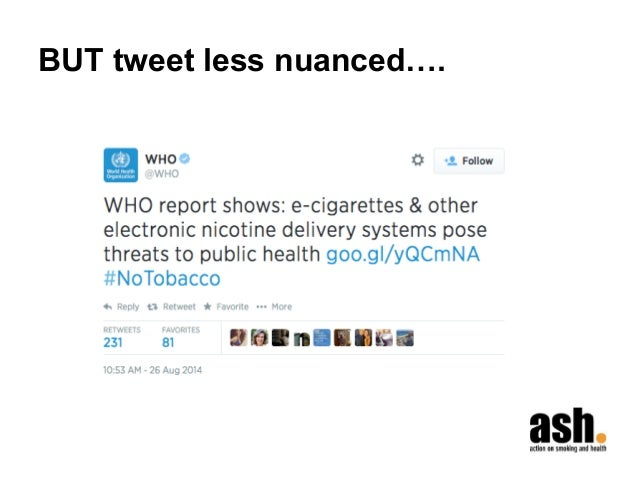 BUT tweet less nuanced….