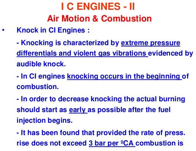 CI Engine Knocking