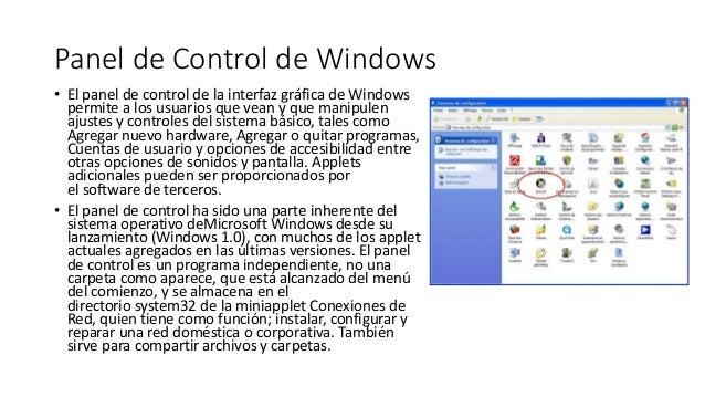 10 panel de control de windows - Www wayook es panel ...
