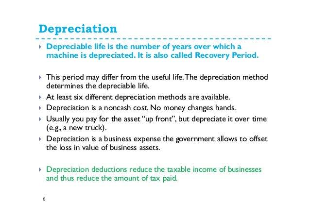 10  depreciation