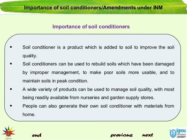 10 soil conditioners importance by allah dad khan for Soil uses and its importance