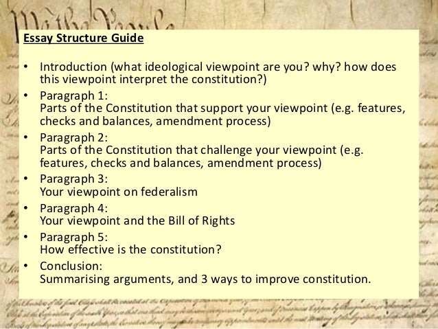 how do interpretations of the us constitution differ  essay structure