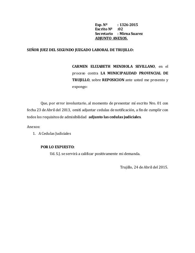 Modelo de subsanacion for Consulta demanda de empleo