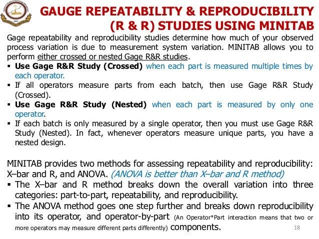 Gage study minitab analysis