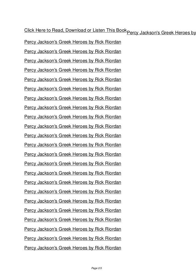 greek gods percy jackson pdf
