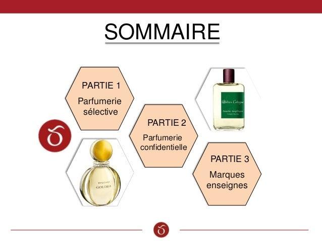 SOMMAIRE Parfumerie sélective PARTIE 1 PARTIE 2 Parfumerie confidentielle PARTIE 3 Marques enseignes