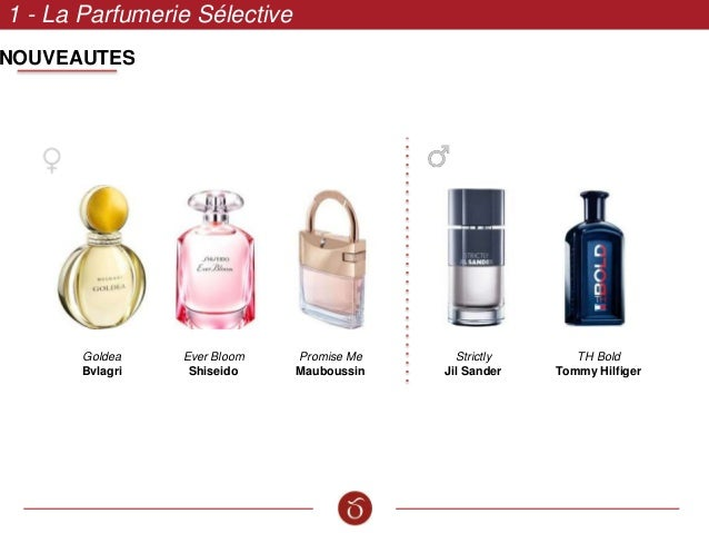 1 - La Parfumerie Sélective Goldea Bvlagri Strictly Jil Sander TH Bold Tommy Hilfiger Ever Bloom Shiseido Promise Me Maubo...
