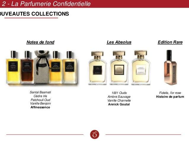 OUVEAUTES COLLECTIONS 2 - La Parfumerie Confidentielle Notes de fond Santal Basmati Cèdre Iris Patchouli Oud Vanille Benjo...