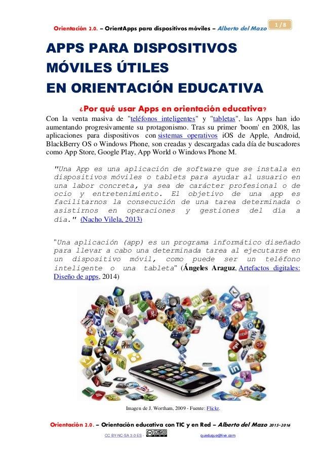 Orientación 2.0. – OrientApps para dispositivos móviles – Alberto del Mazo Orientación 2.0. – Orientación educativa con TI...