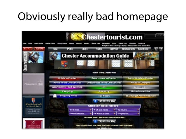 Not as obvious bad homepage