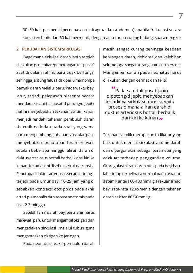 Modul Pendidikan Jarak Jauh Jenjang Diploma 3 Program Studi Kebidanan 7 2. Perubahan Sistem Sirkulasi  Bagaimana sirkula...