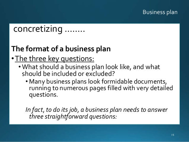 how many pages for a business plan