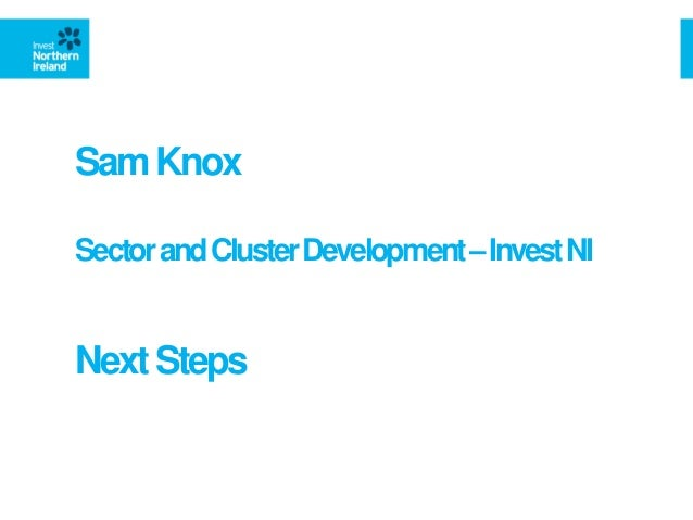 SamKnox SectorandClusterDevelopment–InvestNI NextSteps
