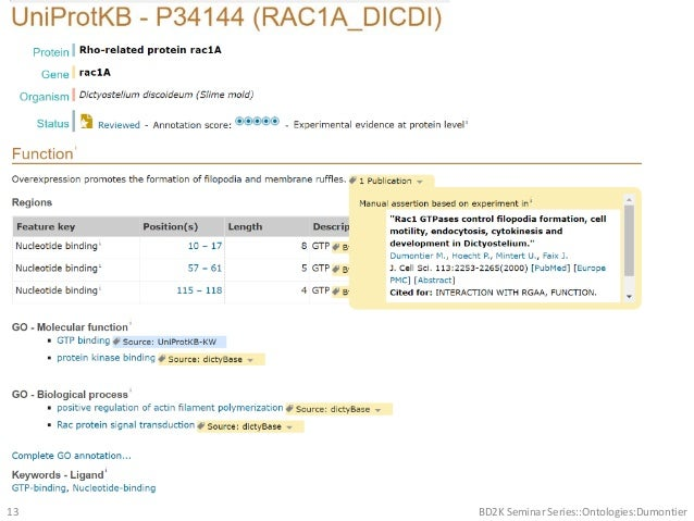 BD2K Seminar Series::Ontologies:Dumontier13