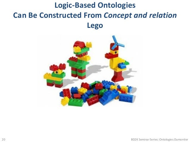 Logic-Based Ontologies Can Be Constructed From Concept and relation Lego BD2K Seminar Series::Ontologies:Dumontier20