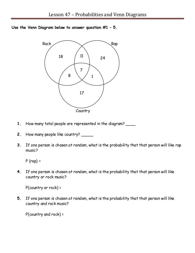 Venn Diagram Problems With Answers Enthusiast Wiring Diagrams