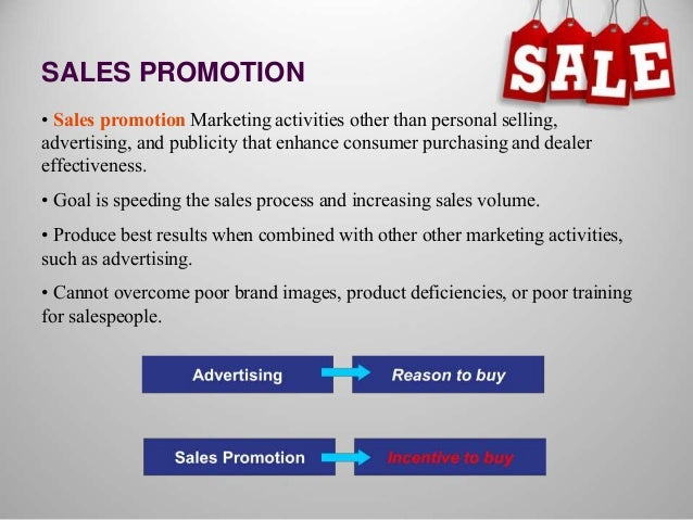 promotion and sales and marketing techniques Sales promotion represents a variety of techniques used to stimulate the purchase of a product or brand sales promotion has a tactical, rather than strategic role in marketing communications and brand strategy.