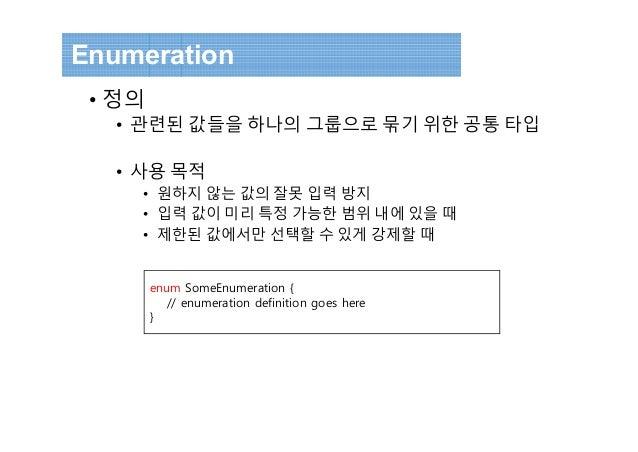Enumeration ...