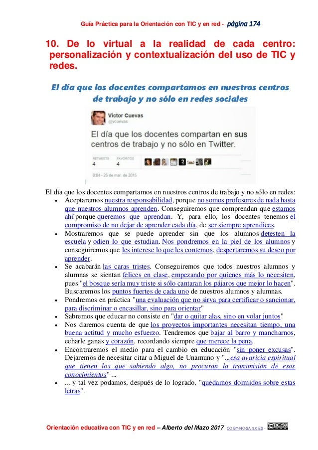 Guía Práctica para la Orientación con TIC y en red - página 174 Orientación educativa con TIC y en red – Alberto del Mazo ...