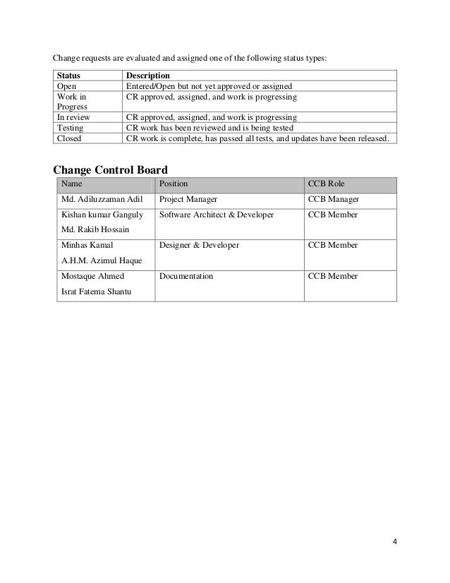 change control in software project management pdf